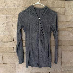 Athleta Jackets & Coats - Athleta Tunic running hoodie Grey
